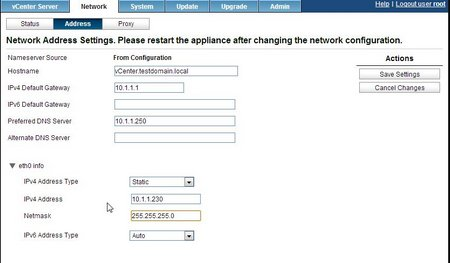 Network Address Setup