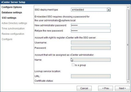 SSO - Administrator password