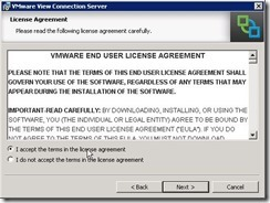1.Accept License Agreement