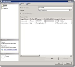 3. Create View Events Database