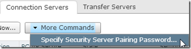 3. Specify Security Server Pairing Password