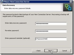 4.Data Recovery Password