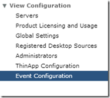 4. Event Configuration