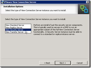 7. Select Security Server
