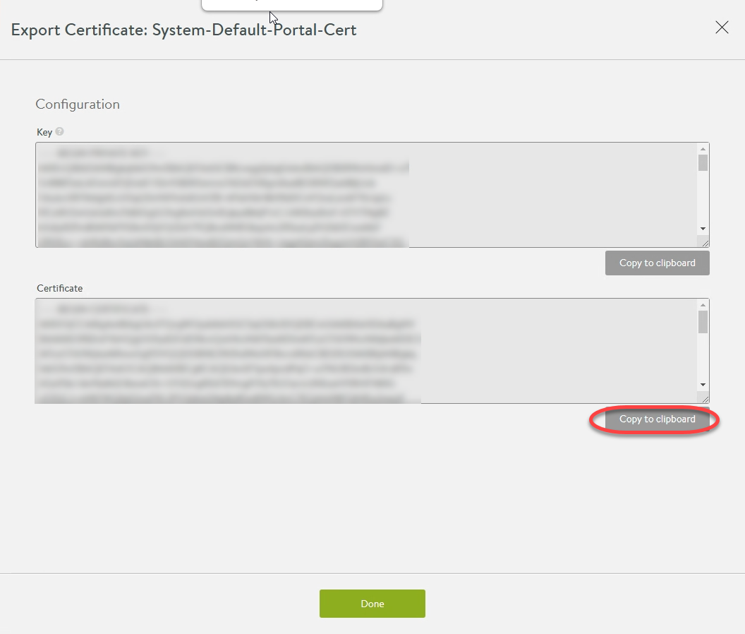13. Export System-Default-Portal-Cert