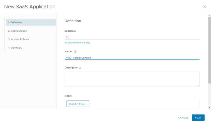 14. WS1 New SaaS Application