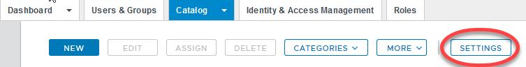 7a. idp metadata WS1 Catalog Settings