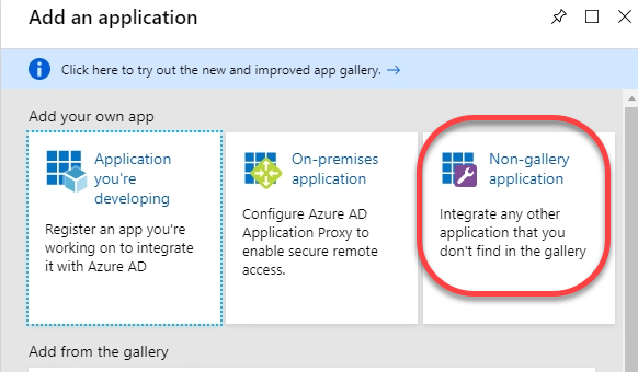 3. Non-Gallery Application